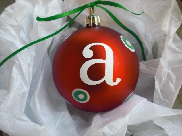 Personalized Christmas Ornament Letter A Etsy Holiday Sale