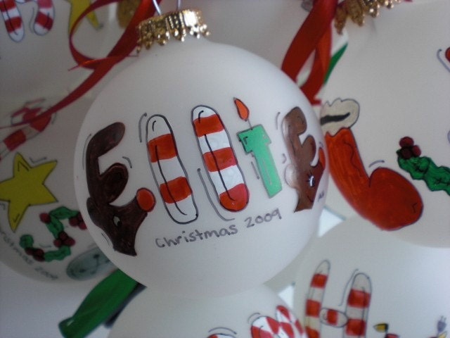 Personalized christmas ornaments hand painted for Customized photo christmas ornaments
