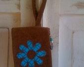 Hippie Flower Wristlet