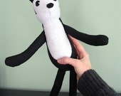 20s Cartoon Plush- Handmade with Recycled Suit Fabric