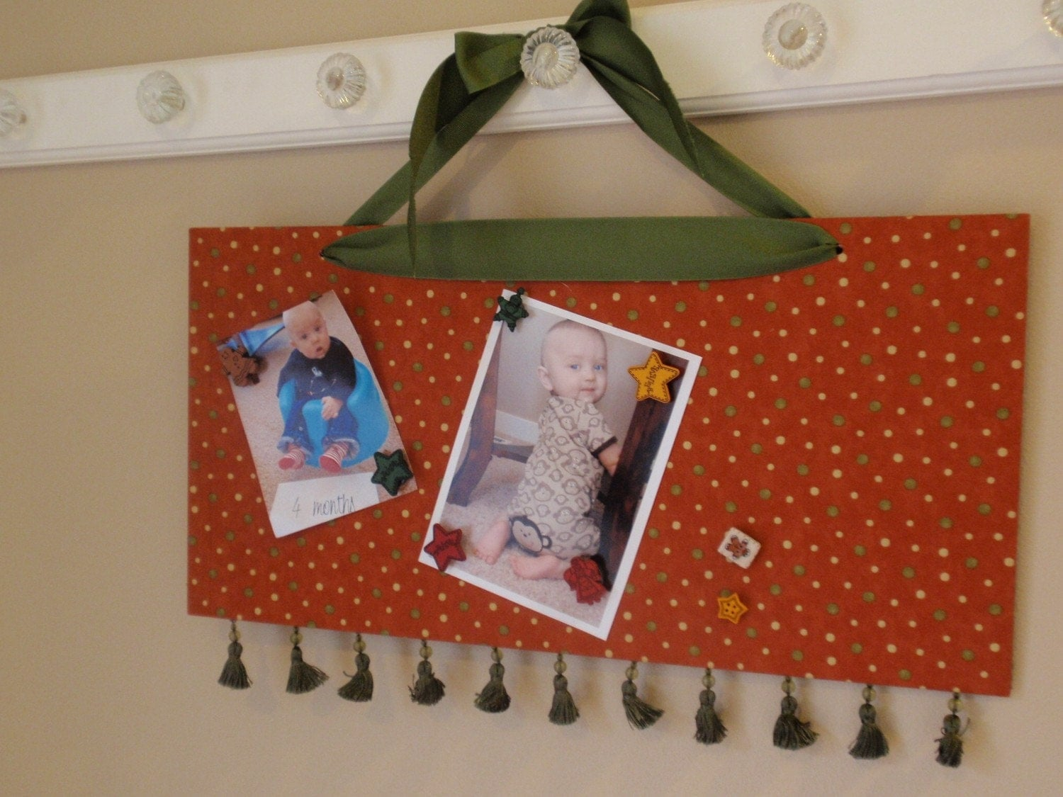 10x20 christmas card holder picture frame in moda fabrics by for Door xmas card holders