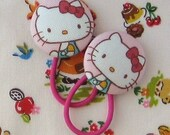 Ponytail Holders - Hello Kitty