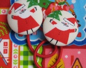 Ponytail Holders - Santa