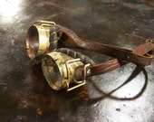 Brass and Leather Steampunk Goggles Neo Victorian Jules Verne