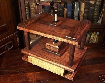 SALE Bookbinding Press Book Binding Press Nipping Press Flower Press Scrapbooking Blockprinting Press