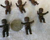 Vintage Ethnic African American Miniature Plastic Babies  (10)