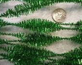 Vintage Green Metallic Bump Chenille NOS (12)
