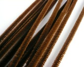 Vintage 6mm Brown Chenille Stems NOS (12)