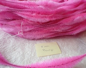 Retro Hot Pink Bump Chenille NOS 1 yard 4 inch bump