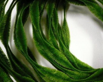 Retro Bump Chenille Forest Green 2 inch bump