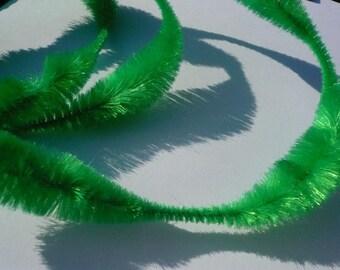 Retro Christmas Green Bump Chenille 1 yard