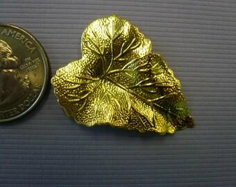 Vintage Stamped Brass Leaf NOS (5)
