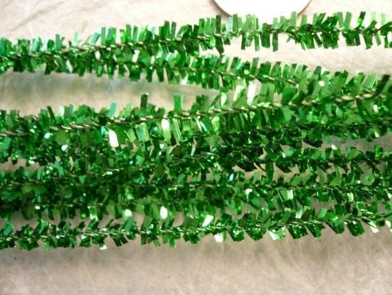 Vintage Green Tinsel 6mm (12)