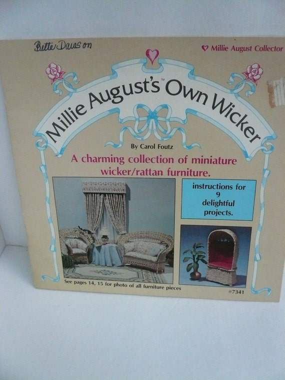 Vintage Instructions For Miniature Wicker Furniture Millie
