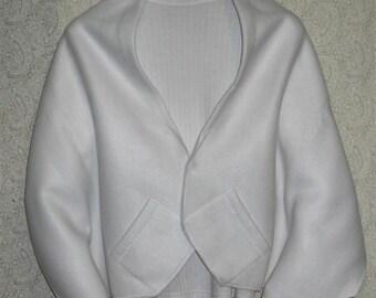 White Shawl, Bed Jacket, or Reading Shawl - Cold Office / Warm Shawl