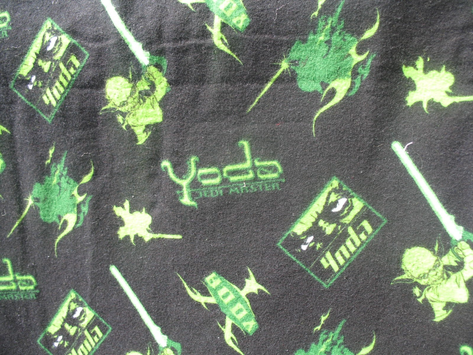 Star wars fabric with yoda flannel cotton for Star wars fabric