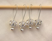 Four Swarovski Crystal Snag Free Stitch Markers - UK Seller