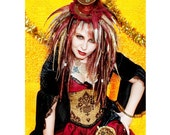 Gothic Lolita STEAMPUNK full Dread Wig with Clock Parts Cogs