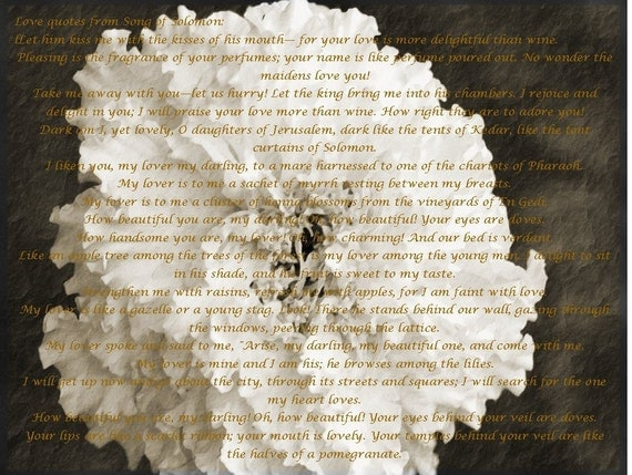 Love Quotes From Song Of Solomon By Fotojo On Etsy