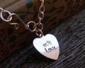 Personalized Tiffany Style Heart Bracelet - CUSTOM FONT