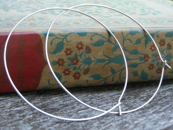 Sterling Silver Hoop Earrings - Large
