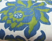 Vintage Floral Fabric- Blue and Green