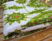 Vintage Fabric- White and Green Ornamental Charter Fabrics, Inc