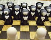Vampires Versus Mummies Checker Game