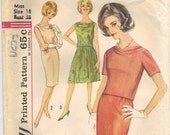 60s Camelot-style Two-Piece Dress Pattern 38-30-40