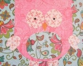 Vintage Inspired Pink Owl Nursery Art for Childs Room Affordable