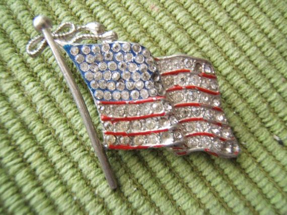 Early 1900's Paste Flag Pin