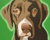 Custom 8x8 POP ART Pet Dog Portrait Painting