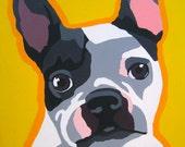 Custom 30x30 Pop Art Dog Portrait Painting