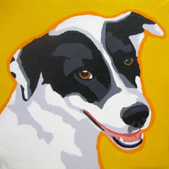 Custom Dog Portrait 10x10 Pop Art Cat Animal Painting