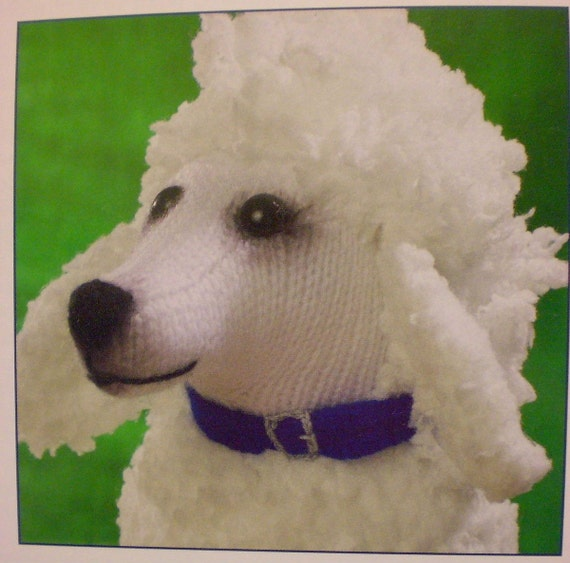 ALAN DART Sirdar Poodle Dog Toy Knitting Pattern NEW