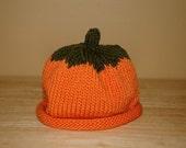 Pumpkin Baby Hat-Hand Knit