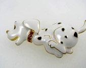 Dazzling Dalmatian Puppy Brooch