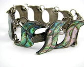 Taxco Sterling Silver and Abalone Bracelet