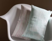 Linen Hand Dyed Waves Pattern Pillow Cover