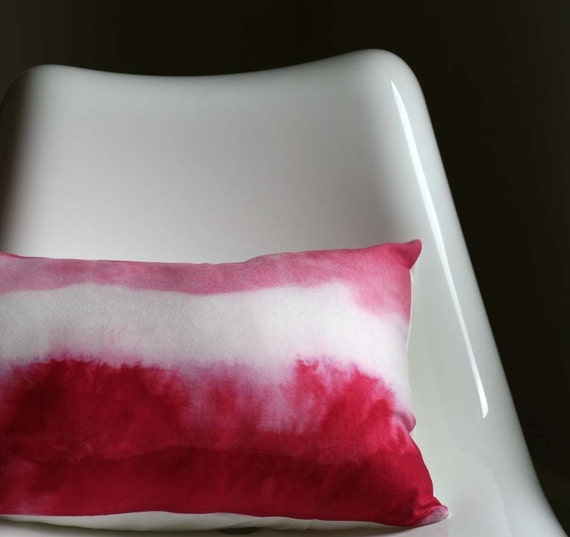 Fuschia Watercolors Pillow Cover by Hettle on Etsy