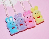 Easter Bunny Necklace - Set of 4 BFF Necklace