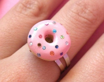 Pink Donut Ring