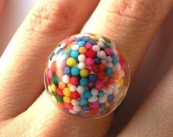 Mini Rainbow Bits Ring