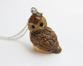 Woodland Owl Necklace  (R3C)