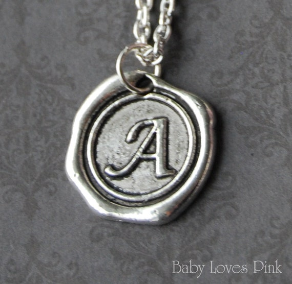 Items Similar To Custom Stamped Wax Seal Necklace