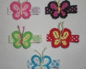 Crochet Butterfly Hair Clip Set (Pick 2 Clips)