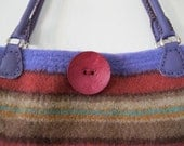 Amazing Southwest Striped Felted Purse with Matching Fabric Lining