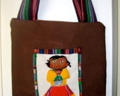 Tarahumara Doll Embellished Purse with Guatemalan Lining
