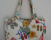 SALE  Flip Flops and Flowers Carry All with 2 Matching Zip Accessory Bags
