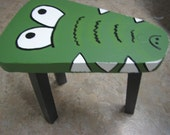 Adorable Hand Painted Kids Alligator Table